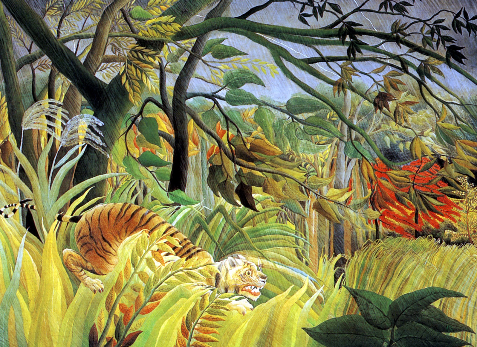 Henri Rousseau - Tiger in a Tropical Storm