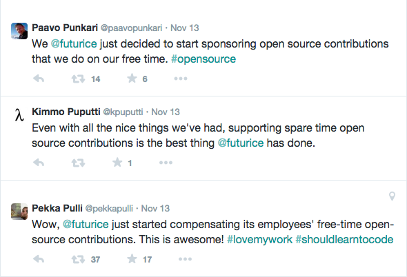 Response to sponsoring open source contributions at twitter